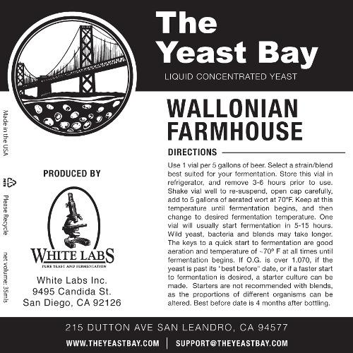 7261 the yeast bay wallonian farmhouse