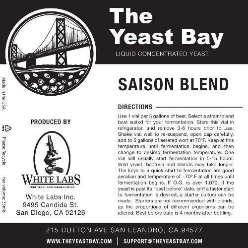 7265 the yeast bay saison blend