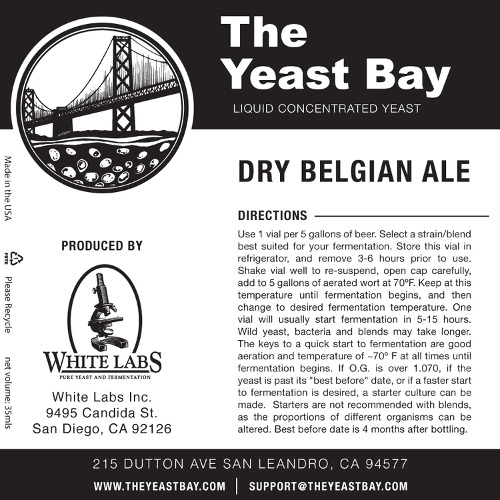 7269 the yeast bay dry belgian ale
