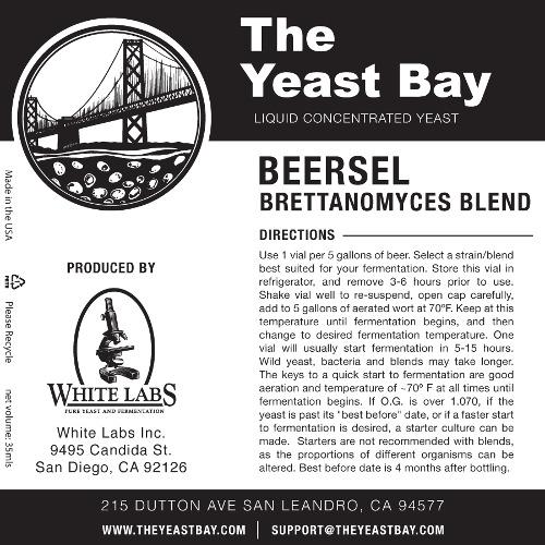 7281 the yeast bay beersel brettanomyces blend