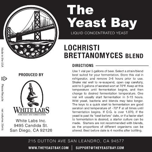 7289 the yeast bay lochristi brettanomyces blend