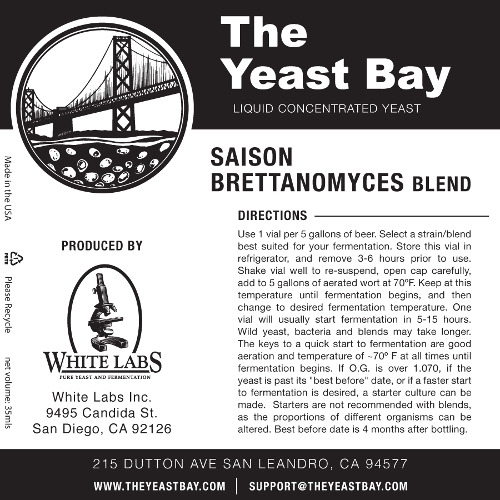7297 the yeast bay saison brettanomyces blend