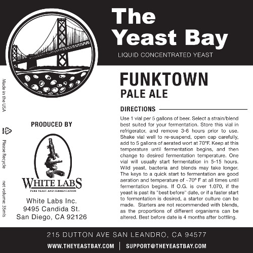 7301 the yeast bay funktown pale ale