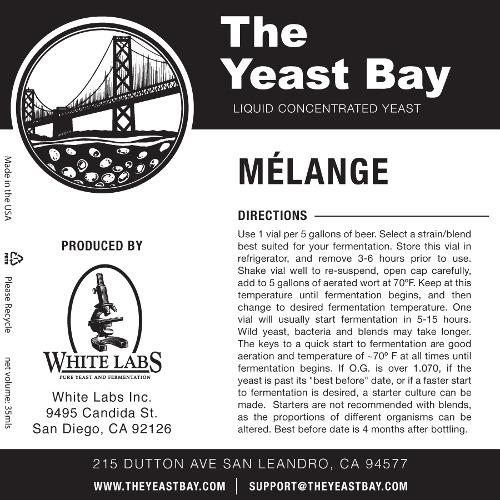 7305 the yeast bay melange sour blend