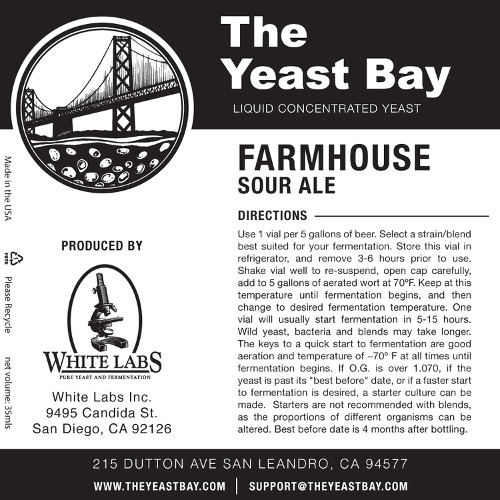 7309 the yeast bay farmhouse sour ale
