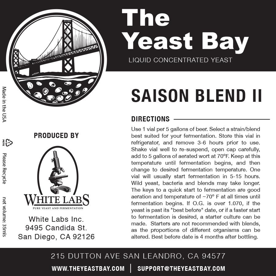 7325 the yeast bay saison blend ii