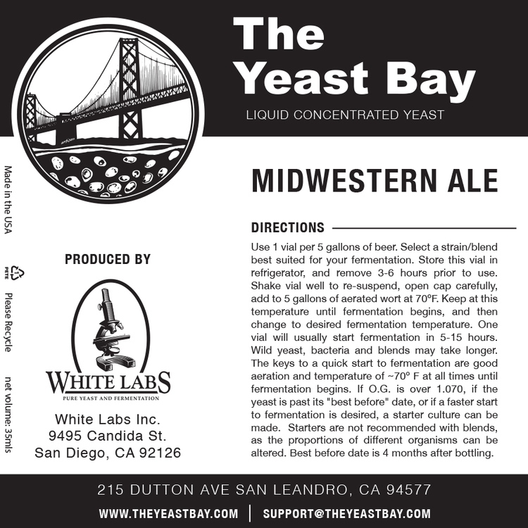 7545 the yeast bay midwestern ale