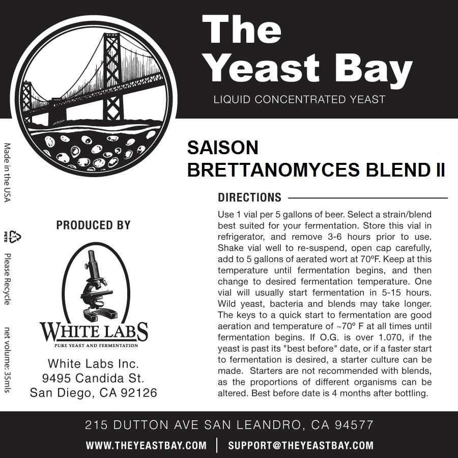7557 the yeast bay saison brettanomyces blend ii