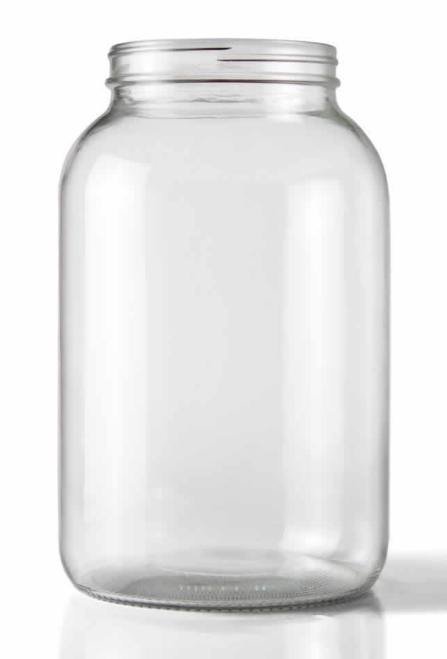 8487 wide mouth 1 gallon clear glass jar