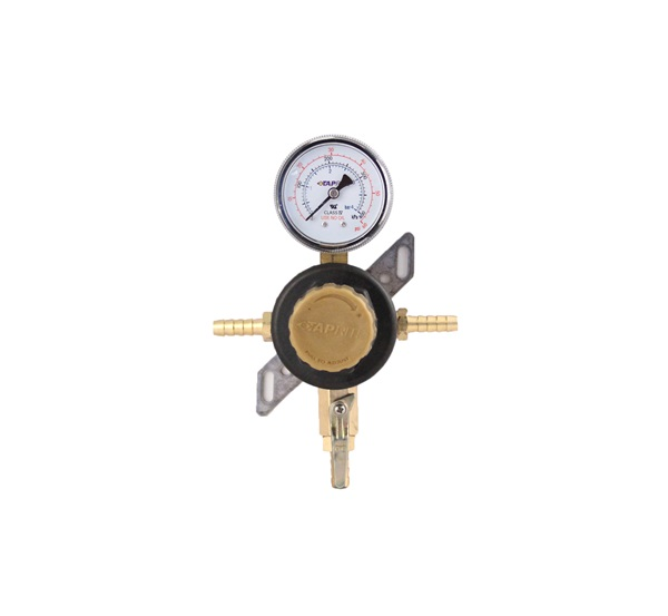 8861 taprite single product secondary co2 regulator 5 16 barbed pass thru