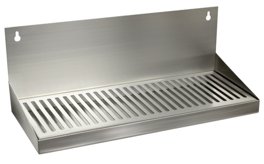 8993 drip tray without drain 6x16 wall mount