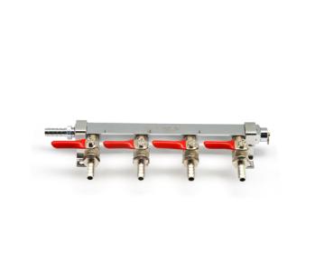 9019 krome 4 way gas distributor manifold