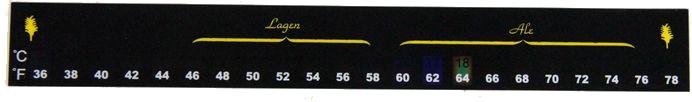 9201 Thermometer Full Range Stick On