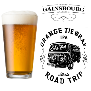 Orange Tie Wrap - Gainsbourg - Clone