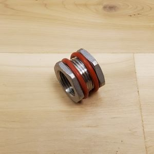 23276 stainless steel weldless bulkhead for kettle