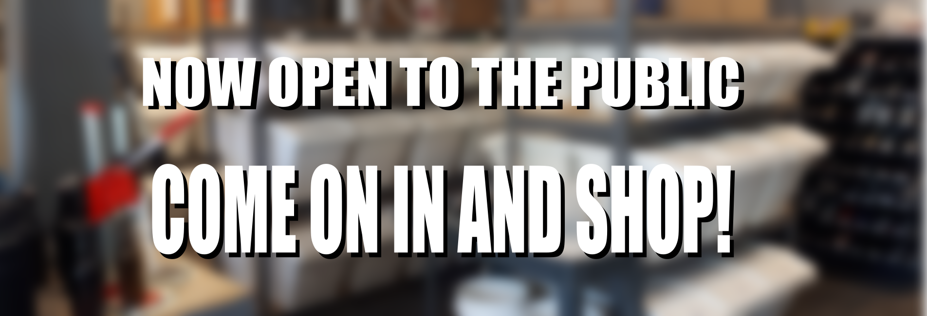 Store reopening to the public September 7th